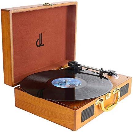 [スポンサー プロダクト]DLITIME レコードプレーヤー 木製 ミュージックプレーヤー スピーカー内蔵 スーツケース型