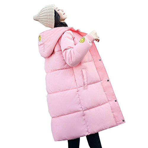 Student Coat Winter Hooded Down Padded Korean A Clothes nihiug Jacket Eiderdown Casual Long Loose Outwear Coat Down Section pZYnx67tW