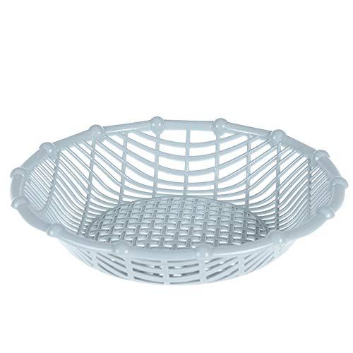 - Manakayla Practical Fruit Basket Snack Storage Basket Living Room Plastic Fruit Plate Blue