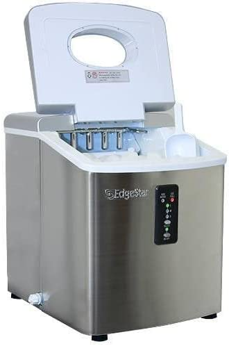 Edgestar IP210SS1 Portable Countertop Ice Maker Stainless Steel//Silver