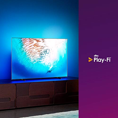 Philips Ambilight 55OLED805/12 55-Inch OLED TV (4K UHD, P5 AI Perfect Picture Engine, Dolby Vision, Dolby Atmos, HDR 10+, Freeview Play, Works with…
