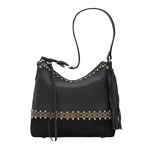 American West Women's Wild Horses Shoulder Handbag Black One Size by American West