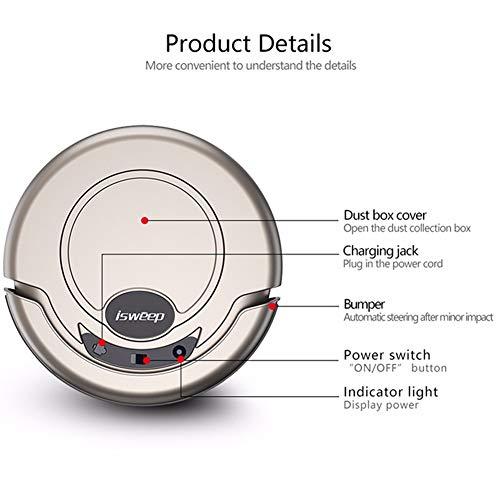 Robot Aspirador EC Technology con Alta Potencia De Succión, Sensor Anti-Caída,Tecnología Inteligente, para Pelos De Mascota, Polvo, Suelos Duros, ...