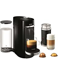 Nespresso VertuoPlus Deluxe Coffee and Espresso Maker Bundle with Aeroccino Milk Frother by De'Longhi, Black