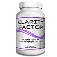 Boomer Clarity Factor Brain Supplement Energy Pills, Women's & Men's Vitamins with St John's Wort, Ginkgo Biloba, and L-Glutamine to Increase Focus and Support Memory Function, 60 Capsules