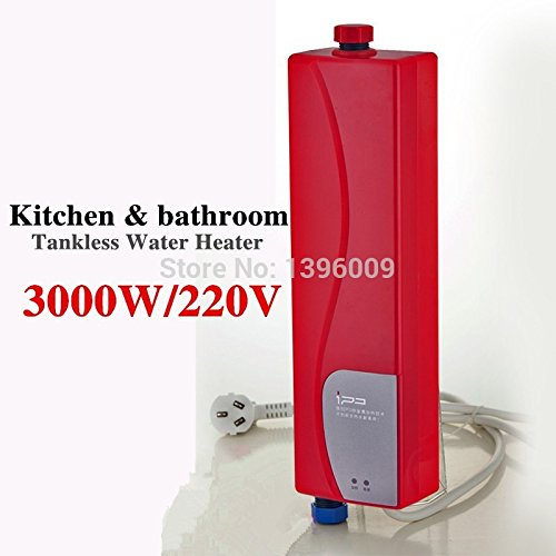 Asegure expendedora Suecia 3000W sin tanque calentador de agua instantáneo ducha calentador de agua eléctrico de cocina caliente instantáneo, ...