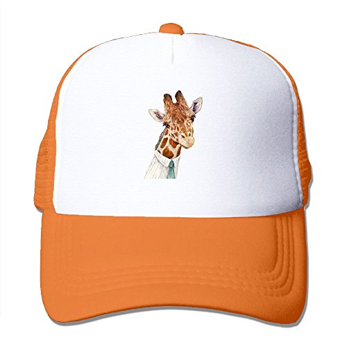 Giraffes Male - Male Giraffe Mesh Trucker Hat - Baseball Cap Orange