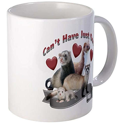 CafePress - Can't Have Just One Ferret Mugs - Unique Coffee Mug, Coffee Cup (Ferret Plush)