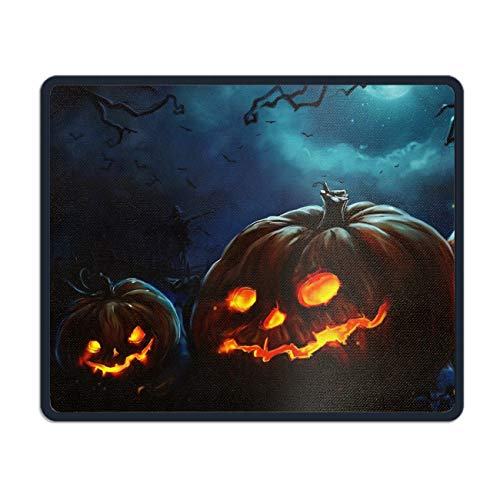 Gaming Mouse Pad Mouse Mat Halloween Pumpkin Gaming Mousepad - 7.08 (L£x 8.66 (W) inch with Stitched Edges Waterproof Mice Pad Non-Slip