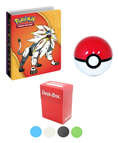 Pokemon Mini Binder Collector's Album + Deck Box + Pokeball (Pokemon Mini Card Binder)