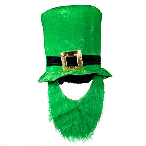 St. Patricks Leprechaun Hat and Beard for Adults -