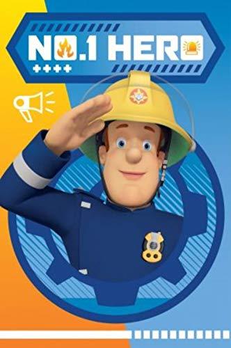- Fireman Sam 'nº1 HERO' Fleece Blanket 100 x 150 cm (Exclusive Model) JAV