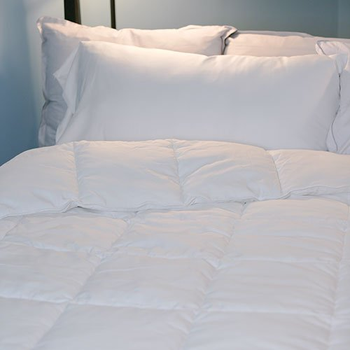 Hotel Plush Hypoallergenic Cooling Comforter - Size King - 400 Thread Count - Classic White