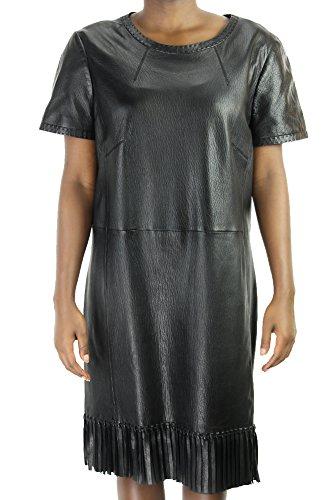 paule-ka-short-sleeve-fringed-paneled-leather-dress-msrp