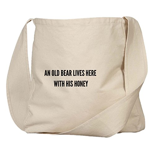 An Old Bear Lives Here W His Honey Organic Cotton Canvas Market Bag Tote -