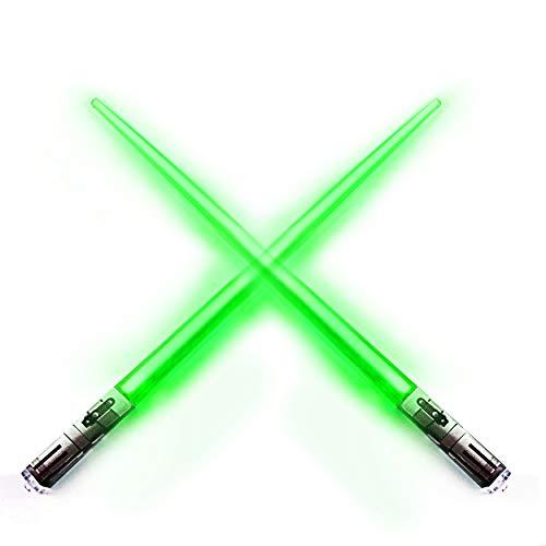 Chop Sabers Light Up Lightsaber Chopsticks, Green -
