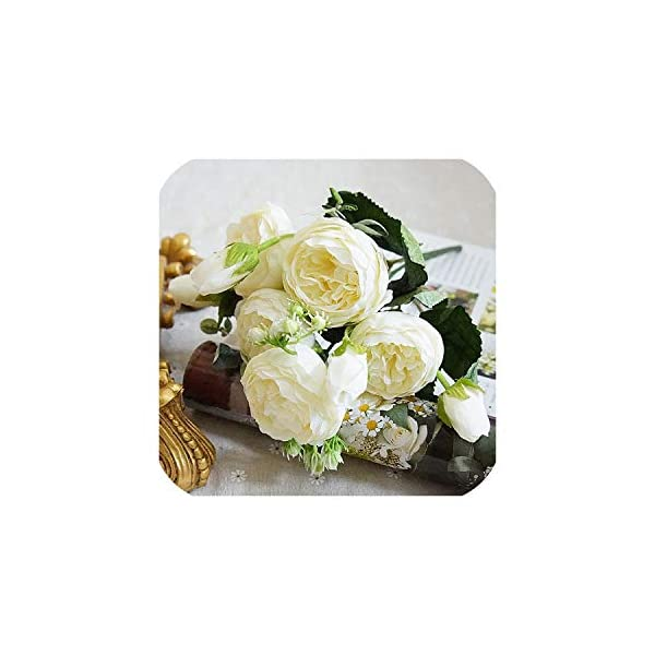 Bling-Bling Case 2019 Beautiful Rose Peony Artificial Silk Flowers Small Bouquet Flores Home Party Spring Wedding Decoration Fake Flower,2