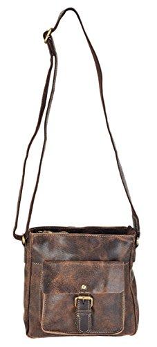 9266 Top Messenger Leather Brown Zip Crossbody Rowallan Distressed Bag x8PUqwtnzS