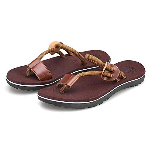 Tongs 41 Beach Antidérapant black Chaussons Confortable Shangxian Brown Hommes Adultes Voyage Walking pOqvt