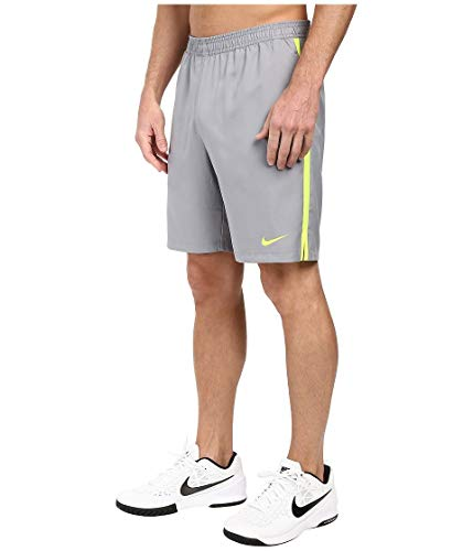 Nike Men's Court 9'' Short, Stealth Volt, Small by Nike (Image #2)