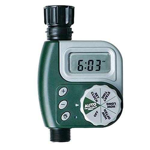 Jlong Garden Irrigation Timer Battery Operated Single Outlet Electronic Digital Programmable Hose Faucet Timers