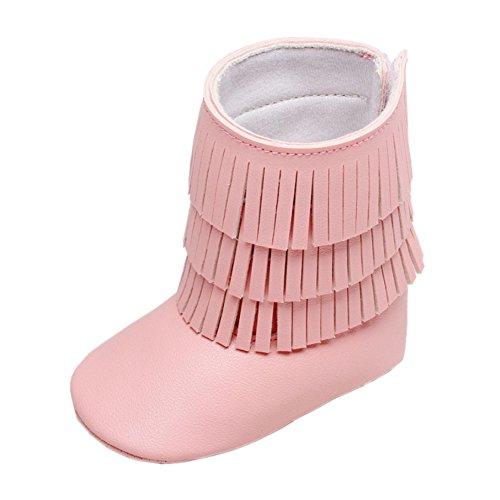 leap frog  Autumn Tassels Boots, Baby Mädchen Krabbelschuhe & Puschen, Pink - rose - Größe: 12-18 monate