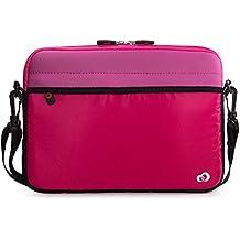 MAGENTA Tablet Sleeve Messenger Bag with Shoulder Strap Neoprene Cover Case for iPad Mini 1 2 3 4 7.9 inch Tablet, Loose Fit, Water Resistant, Shockproof