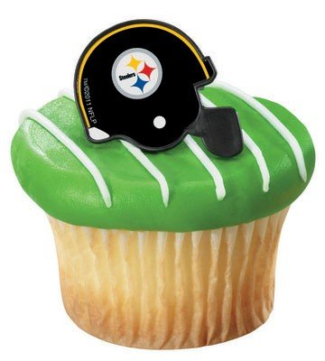 NFL Pittsburgh Steelers Cupcake Rings 12 Pack ()