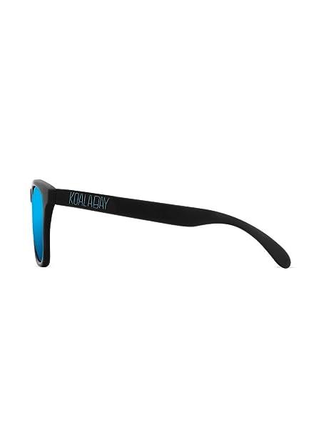 KOALA BAY Gafas Polarizadas Palm Beach Negro Lentes Azul Espejo: Amazon.es: Ropa y accesorios