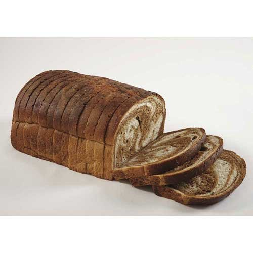 European Bakers Marble Rye Panini Bread, Sliced, 35.3 Ounce -- 10 per case.