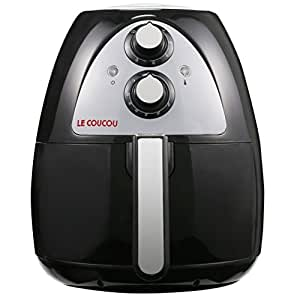 Le Coucou Harmony I-B Low Fat Frying Non-Stick No Oil-Smoke Kitchen Countertop Air Fryer