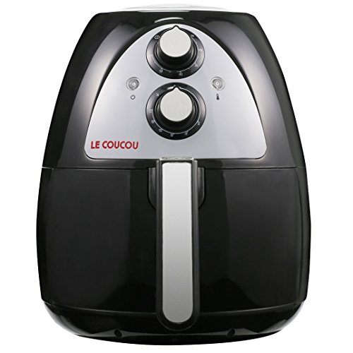 Le Coucou Oil-Less Rapid Airfryer Harmony I Healthy Low-Fat Convenient No oil-smoke and None-stick Air Fryer Black
