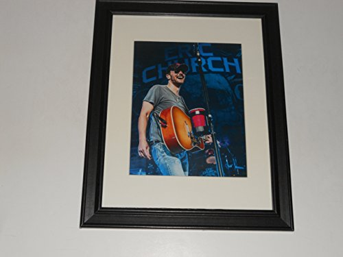 "Framed Eric Church Country Artist Live on Stage 2015 Poster 14"" by 17"""