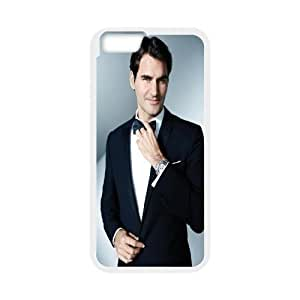 IPhone 6 Plus Cases, Roger Federer.Handsome Suit Cute Design Cheap Cases for IPhone 6 Plus {White}