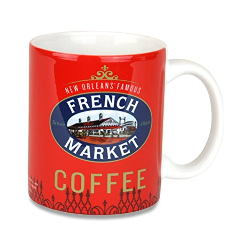 French Market Coffee Mug - Classic Red (New Orleans French Quarter Market)