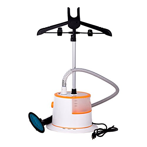 CO-Z 1.5L Large Water Tank 35s Fast Steaming Garment Clothes Stand Fabric Steamer with Garment Hanger and Fabric Brush