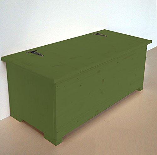 Amico Legno Cassapanca in multistrato con cerniera esterna Cod 56 120x45x47 Smalto Ad Acqua Colore Verde