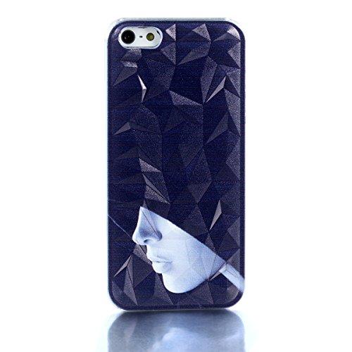 JewelryWe Schwarz Wizard Zauberer Handy Case Schutzhülle Tasche Hülle Rückenschutzhülle Etui für Apple iPhone 5/5S