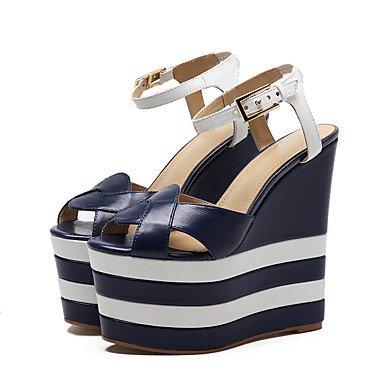 Sanmulyh Dames Schoenen Spring Comfort In De Zomer Nieuwigheid Sandalen Peep Toe Gesp Voor Bruiloft Party & s Avonds Blauw Blauw