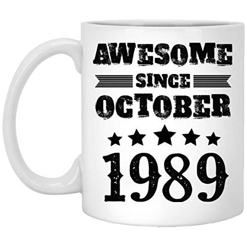 29th Birthday Mug Gifts For All, Men, Women, Awesome Since October 1989 Coffee Mug - 1989 Years Mug, Cute Gifts Coffee Mug For Men, Women - On Christmas, Halloween, Mug White 11oz Tea Cup -