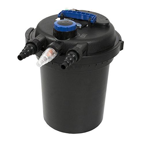 GJH One 4000GAL Pond Pressure Bio Filter w/ 13W UV Sterilizer Light 10000L Koi Water (Pond Pressure External Filter)