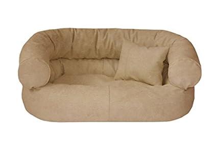 Astor – Cama para Perros Alcantara S 50 x 70 Beige Dormir Espacio Perros sofá +