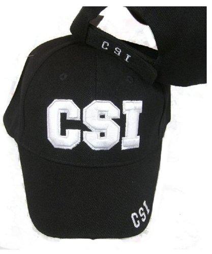 CSI Embroidered Adjustable HAT Black Ball Cap