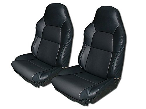 Chevy Corvette C4 STANDARD(BASE) 1994-1996 BLACK Artificial leather Custom Made Original fit seat cover