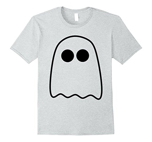 For Halloween Friends Simple Costumes (Mens Halloween Boo Scary Ghost Simple Easy Costume Fun T-Shirt Large Heather)