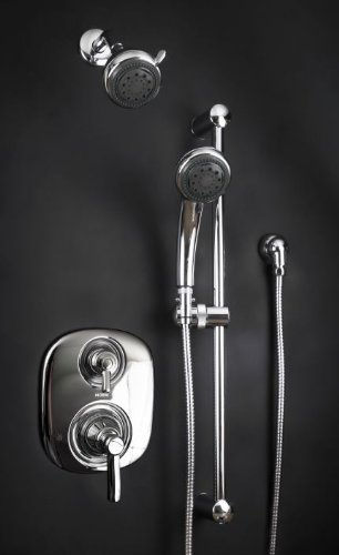 Zoe Dolphin Vll Brushed Nickel Shower System With Moen Valve