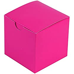 BalsaCircle 100 pcs 3-Inch Fuchsia Wedding Favor Boxes for Wedding Party Birthday Candy Gifts Decorations Supplies