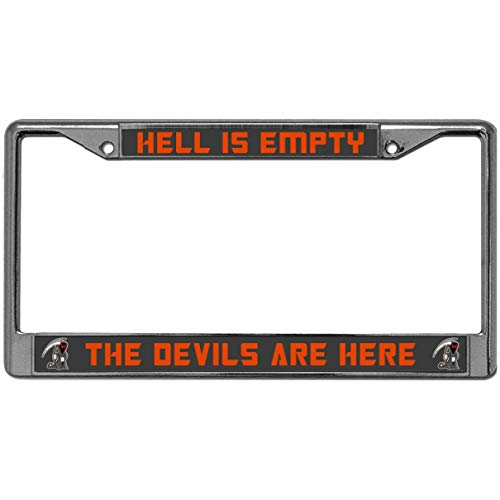 GND License Plate Frame Custom Stainless Steel Cool License Plate Frame for Women/Man Happy Halloween Custom License Plate Frame Classic DIY Model Fits Standard US License Plates -