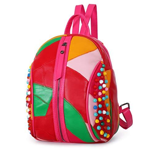 Leather Sheep Ienjoy Sheep Leather Backpack Backpack Ienjoy Lamm8037 qxX6pp8Hw