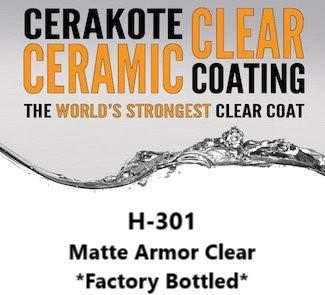 301 Series - CERAKOTE H-Series - Factory Bottled - Baked Firearm Coating 4 OZ Bottle (118 ml) (H-301: Matte Clear)